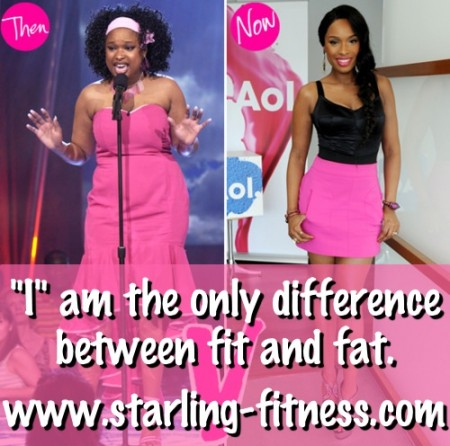 I am the only difference between fit and fat from Starling Fitness.