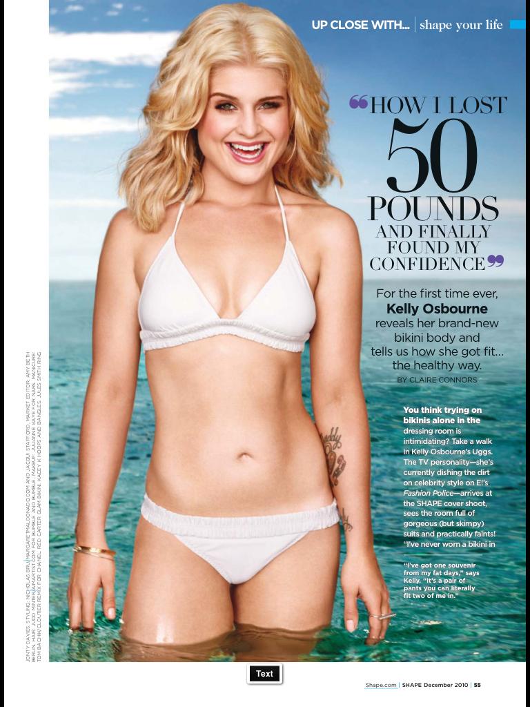 Kelly Osbourne 2010 in Shape Magazine on Starling Fitness