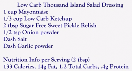 Low Carb 1000 Island Dressing