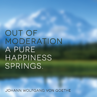 Out of moderation a pure happiness springs from Starling Fitness