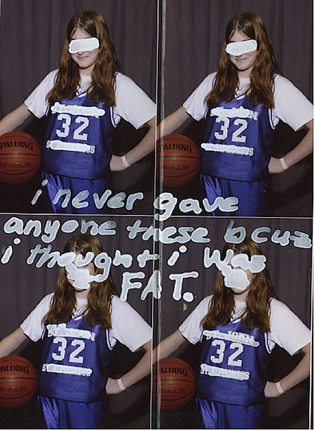 PostSecret: I never gave anyone these because I thought I was fat from Starling Fitness