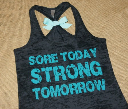 Sore Today STRONG Tomorrow on Etsy