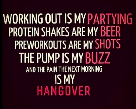 Working Out Is My Partying from Starling Fitness
