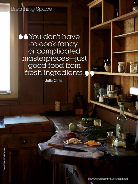 You dont have to cook fancy or complicated masterpieces just good food from fresh ingredients. by Julia Child from Starling Fitness