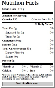 drpepper nutrition facts