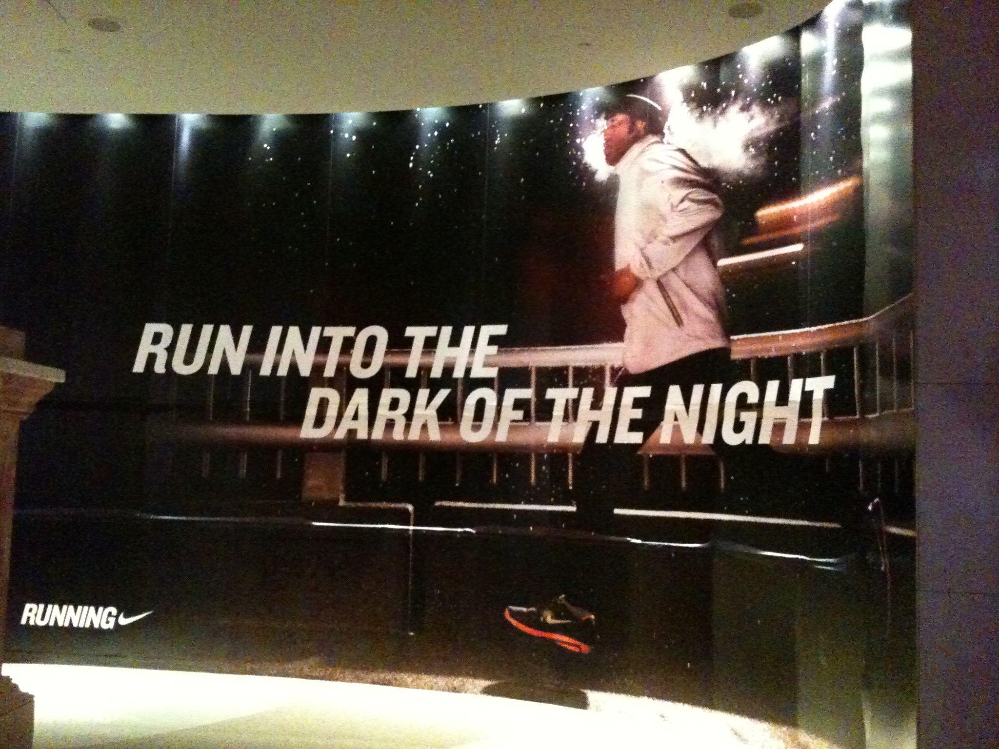 Nike Run Into The Dark of the Night