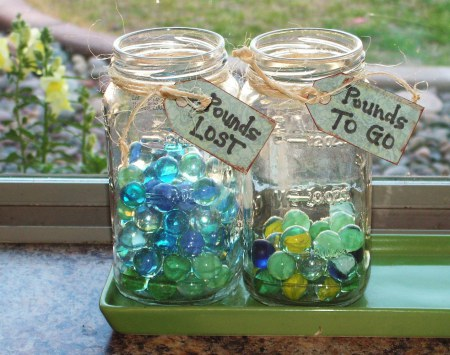 Pounds Lost and Pounds To Go Jars