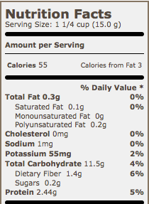 Quaker Puffed Wheat Nutrition Facts